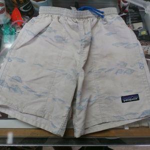 Patagonia white boys swim shorts size XS #30176